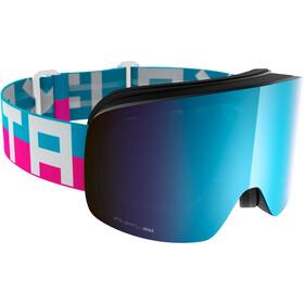 Flaxta Prime Svømmebriller, bright pink/flaxta blue-blue mirror